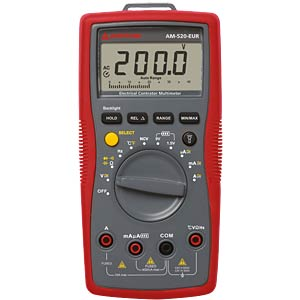 AM-520-EUR, Digital Multimeter AMPROBE 4131281