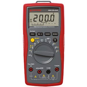 AM-530-EUR, Digital Multimeter TRMS AMPROBE 4131296