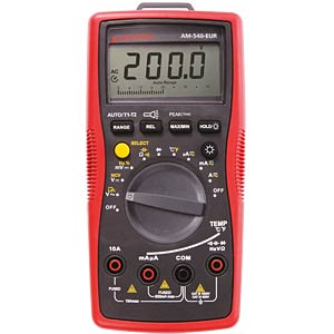 AM-540-EUR, Digital Multimeter AMPROBE 4131308