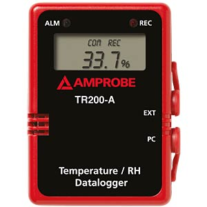 TR200-A, temperature/humidity data logger with digital display AMPROBE 3477302