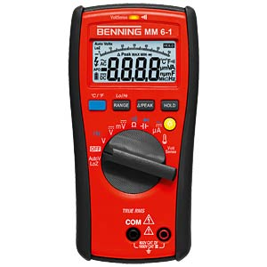 Multimeter MM 6-1, digital, 6000 Counts, TRMS BENNING 044086