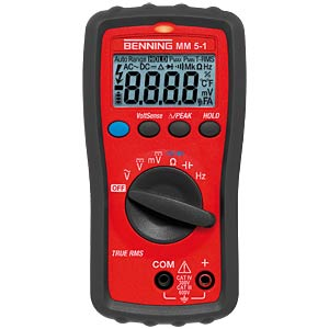 Multimeter MM 5-1, digital, 6000 Counts, TRMS BENNING 044070