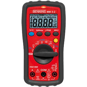 Multimeter MM 5-2, digital, 6000 Counts, TRMS BENNING 044071