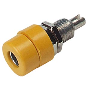 4-mm panel jack, insulated, yellow HIRSCHMANN TEST & MEASUREMENT 930166103