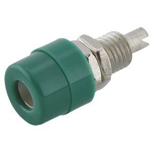 4 mm Einbaubuchse, isoliert, grün HIRSCHMANN TEST & MEASUREMENT 930166104