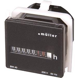 Betriebsstundenzähler für Schalttafel-Einbau HUGO MÜLLER BW 40.18