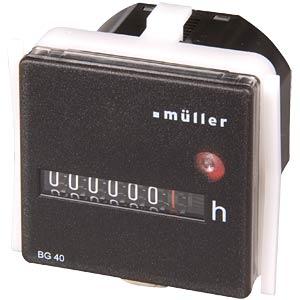 Betriebsstundenzähler für Schalttafel-Einbau HUGO MÜLLER BW 40.28