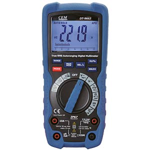 Multimeter DT-9662, digital, 6000 Counts, für Industrie CEM DT-9662 BT
