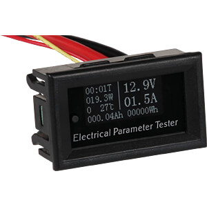 OLED, multifunctioneel meetapparaat, 5 tot 60 V (DC) JOY-IT COM-VA010020