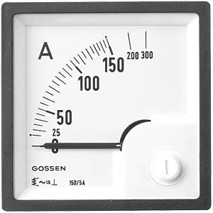 Dreheisen-Messwerk 0-10A/20A, 72x72mm GILGEN, MÜLLER & WEIGERT 72102 00000 B