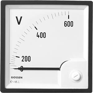 Dreheisen-Messwerk 0-250 V, 72x72 mm GILGEN, MÜLLER & WEIGERT 72250 00000 B
