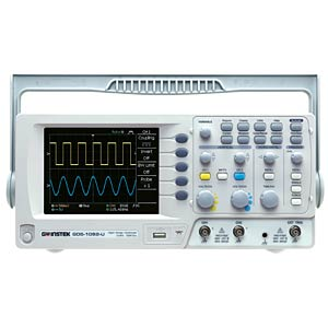 Digital Storage Oscilloscope with USB Port, 50 MHz, 2 CH GW-INSTEK 01DS1052U0GT