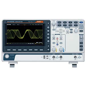 8 LCD, VP-oscilloscoop met USB-aansluiting, 100 MHz, 2 CH GW-INSTEK 01DS212E00GS