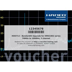 Bandwidth upgrade for HMO 1002, 70 to 100 MHz ROHDE & SCHWARZ 26-G712-0000