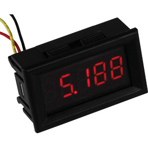 LCD, Voltmeter, 4 Digit, 3,5 bis 30 V (DC) JOY-IT COM-VM433