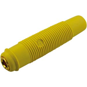 4-mm coupling, up to 2.5 mm², gold-plated, yellow HIRSCHMANN TEST & MEASUREMENT 931804703