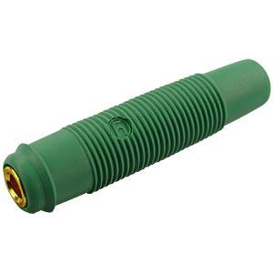 Kupplung, 4 mm , bis 2,5mm², vergoldet, grün HIRSCHMANN TEST & MEASUREMENT 931804704