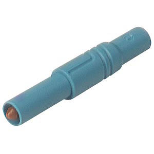 4 mm safety plug, straight, 1000 V, CAT III, blue HIRSCHMANN TEST & MEASUREMENT 934097102