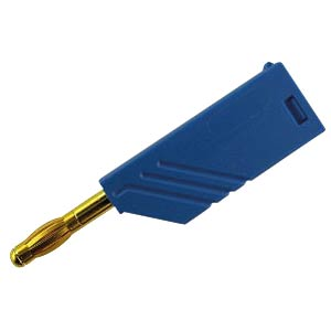 4 mm plug, up to 1.5 mm², stackable, gold, blue HIRSCHMANN TEST & MEASUREMENT 934100702