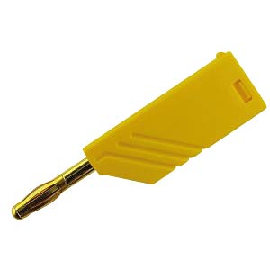 4 mm plug, up to 1.5 mm², stackable, gold, yellow HIRSCHMANN TEST & MEASUREMENT 934100703