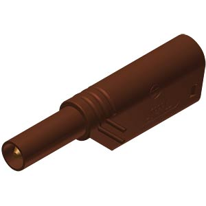 4 mm stackable safety plug, 1000 V, CAT II, brown HIRSCHMANN TEST & MEASUREMENT 934099105