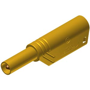 4 mm stackable safety plug, 1000 V, CAT II, yellow HIRSCHMANN TEST & MEASUREMENT 934099103