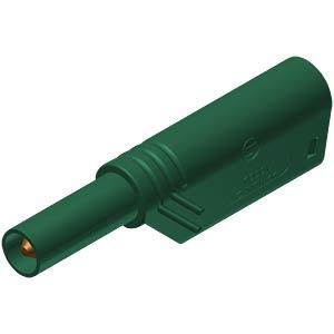 4 mm stackable safety plug, 1000 V, CAT II, green HIRSCHMANN TEST & MEASUREMENT 934099104