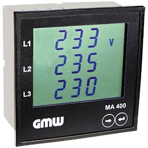 Multi-functional built-in wattmeter GILGEN, MÜLLER & WEIGERT 10121000