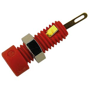 2 mm Buchse mit Lötanschluss, vergoldet, rot HIRSCHMANN TEST & MEASUREMENT 930308701