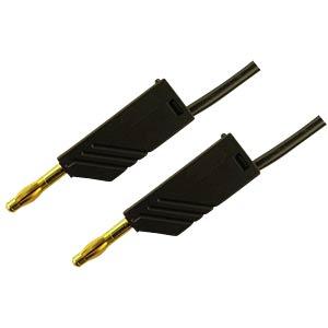 4 mm Messleitung, 200 cm, 2,5mm², Au, schwarz HIRSCHMANN TEST & MEASUREMENT 934066700