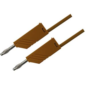 4.0-mm measuring lead, 200 cm, 2.5 mm², brown HIRSCHMANN TEST & MEASUREMENT 934066105