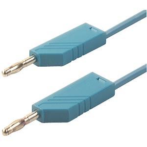 4.0-mm silicone measuring lead, 25 cm, 1 mm², blue HIRSCHMANN TEST & MEASUREMENT 934090102