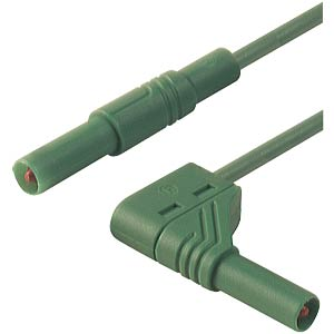 4.0-mm safety measuring lead, 100 cm, 2.5 mm², green HIRSCHMANN TEST & MEASUREMENT 934083104