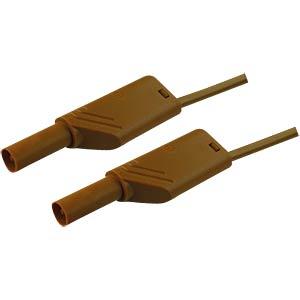 4.0-mm safety measuring lead, 100 cm, 2.5 mm², brown HIRSCHMANN TEST & MEASUREMENT 934088105