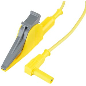 Leads, Crocodile Clips, 36 A, 1,5 m, yellow ELECTRO PJP 5066/2414-SIL-150-4