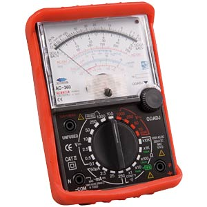 Multimeter, analog, AC/DC FREI