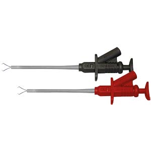 2x 4mm tapping clamps (red/black) 5A PEAKTECH P 7010