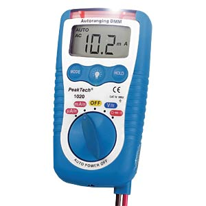 Multimeter, digital, 1999 Counts, 3-in-1 PEAKTECH P 1020A