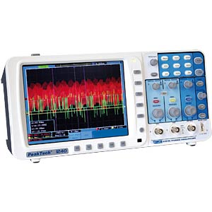 60 MHz/2-channel, 500 MSa/s digital storage oscilloscope PEAKTECH 1240