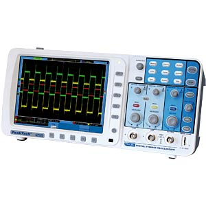 100 MHz/2-channel, 2 GSa/s digital storage oscilloscope PEAKTECH 1255