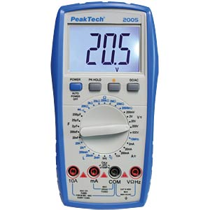 Multimeter, digital, 1999 Counts, Temperaturmessung PEAKTECH P 2005