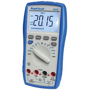 Digital Multimeter 3 3/4-digit, 10 A, bar graph PEAKTECH P 2015