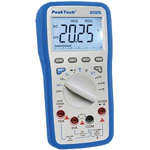 Multimeter, digital, 6000 Counts, USB PEAKTECH P 2025