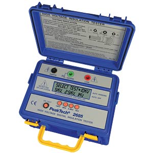 High-voltage insulation tester, 10000 V/600 GOhm PEAKTECH P 2685