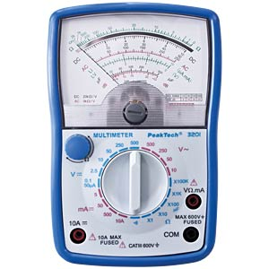 Analoges Multimeter, 500 V AC / DC, 10 A PEAKTECH P 3201