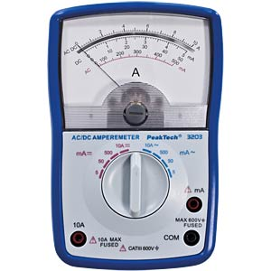 Analoges Amperemeter, 10 A AC/DC PEAKTECH P 3203