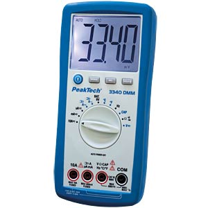 Multimeter, digital, 3999 Counts PEAKTECH PEAKTECH 3340