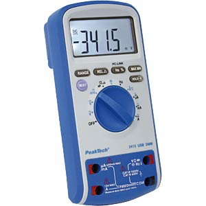 Multimeter, digital, 6000 Counts, USB, Temperaturmessung PEAKTECH P3415