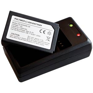 Charger and replacement battery for PeakTech 3440 PEAKTECH P 3440 BC