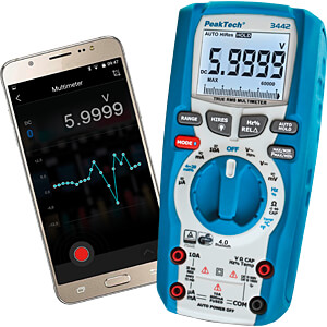 Multimeter, digital, 60000 Counts, TRMS, Bluetooth PEAKTECH P 3442
